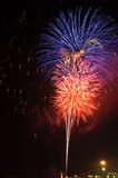 Fireworks#10. A beautiful full display of fireworks stock image