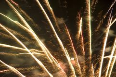 Fireworks 10. Thunder in the Valley fireworks show 2006, Blairmore, Alberta Royalty Free Stock Photo