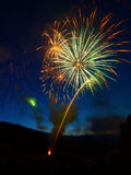 Fireworks. Display with multiple bursts Royalty Free Stock Photos