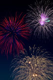 Fireworks. Holiday celebration of a colorful fireworks display royalty free stock images