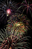 Fireworks. Holiday celebration of a colorful fireworks display Royalty Free Stock Photo
