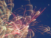 Fireworks. Close up shot of a 4th of July Firework royalty free stock photo