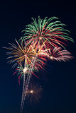 Beautiful fireworks display lights up the nighttime sky Stock Photo