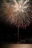 Fireworks. Celebration fireworks over the sea Royalty Free Stock Photos