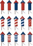 Fireworks. To use in 4th of july celebrations Royalty Free Stock Images