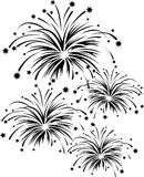 Fireworks. Raster graphic depicting a fireworks display Stock Images