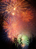 Fireworks. A sky lit up with fireworks royalty free stock photos