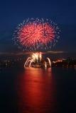 Fireworks. Novosibirsk, 2006 Royalty Free Stock Photography