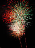 Fireworks. On the beach in Hollywood Florida fourth of july royalty free stock image