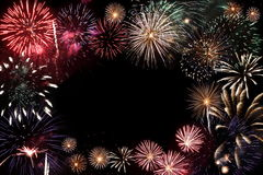 Fireworks. Colorful fireworks over a night sky Royalty Free Stock Photography