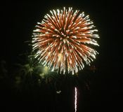 Fireworks. At a local July 4th  show Stock Photo