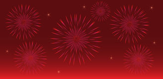 Fireworks. Abstract colorful illustration of fireworks Stock Illustration