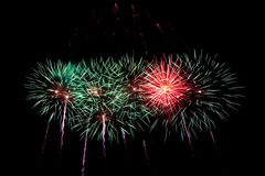 Fireworks. A display of large colorful fireworks royalty free stock photos