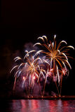 Fireworks. In S. Silvestre day in Madeira Island stock photography