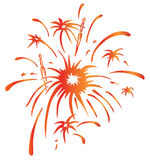 Fireworks. Drawing of beautiful fireworks in a white background Royalty Free Stock Images