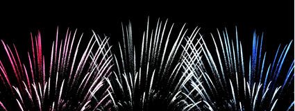 Fireworks. America 4th July Colours in Fireworks Royalty Free Stock Photography