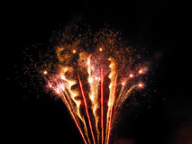 Fireworks. Firworks on night sky, taken recently, to celebrate a bicennential of the town Stock Image