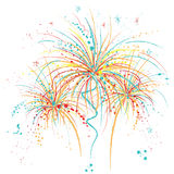Fireworks. Hand drawn illustration of Fireworks .Drawn in Illustrator with charcoal brush to create an effect of traditional pastel drawing Stock Images
