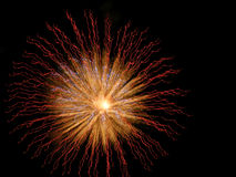 Fireworks. Fire works in the evening on July  fourth Stock Image