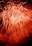 Fireworks. Night party from rockets,Background color Royalty Free Stock Image