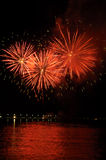 Fireworks#13. A beautiful full display of fireworks royalty free stock image