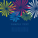Fireworks. Fireworks on dark background. Design for greeting card Royalty Free Stock Photos
