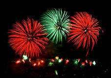 Fireworks. Colorful fireworks display Royalty Free Stock Photos