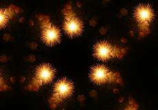 Fireworks. In the night sky Royalty Free Stock Photography