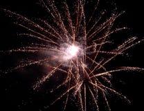 Fireworks. Starry fireworks Stock Images