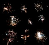 Fireworks. Against a black sky Royalty Free Stock Photo