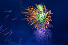 Fireworks. In Moscow (Russian Federation Royalty Free Stock Photo
