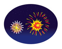 Fireworks. Cartoon vector illustration of Fireworks Stock Photos