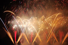 Fireworks. Beautiful fireworks background stock images