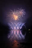 Fireworks. Beautiful fireworks reflecting the water Stock Images