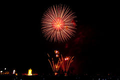 Fireworks. For the king of Thailand Stock Image