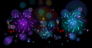 Fireworks. Beautiful fireworks in a night background Stock Image
