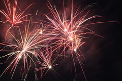 Fireworks. To close of the fair at Enschede Holland stock images