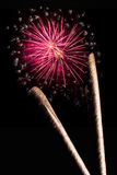 Fireworks. Mondello - Fireworks of the summer Royalty Free Stock Image