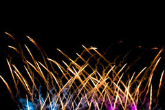 Fireworks. In Mexico during celebration of independence Royalty Free Stock Photography