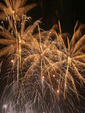 Fireworks. Closeup of multiple fireworks burst royalty free stock images