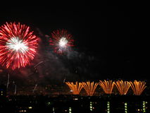 Fireworks. Colorful Fireworks Display. Concept: Celebration or New Year Stock Photos