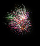 Fireworks. Brilliantly detailed and coloured exploding firework in this contemporary art piece. I use an ultra high quality CANON L SERIES lens to provide you royalty free stock photography