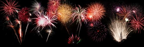 Fireworks. / firework exploding black background banner royalty free stock images
