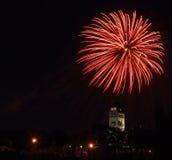 Fireworks 17. Canada Day Fireworks, Winnipeg, Manitoba stock images