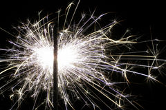 Fireworks. Close-up of sparkler making lots of sparks Royalty Free Stock Photos