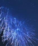 Fireworks. Blue fireworks-Happy New Year-2011 Royalty Free Stock Photos