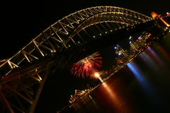 Fireworks. In Sydney Harbour scenery Stock Photography