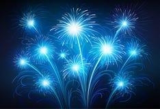 Fireworks. Illustration of celebratory fireworks on a dark background Royalty Free Stock Photo