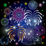Fireworks. Vector Illustration of colorful fireworks Stock Illustration