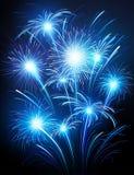 Fireworks. Illustration of celebratory fireworks on a dark background Stock Photos